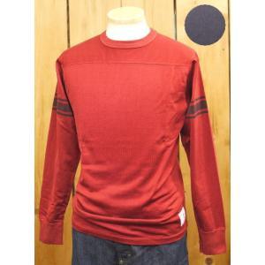 ウエス UES 袖ライン フットボールTシャツ レッド・ネイビー No,601551|craft-ac