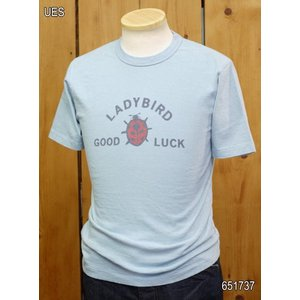 ウエス ues LADY BIRD Tシャツ ブルー  No,651737|craft-ac