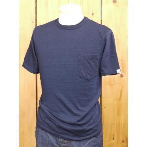 ウエス UES インディゴポケット無地Tシャツ 652030|craft-ac