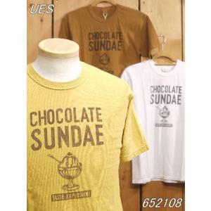 ウエス CHOCOLATE SUNDAE Tシャツ イエロー ホワイト カーキ  652108|craft-ac