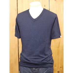 ウエス UES インディゴVネックTシャツ No.65IV|craft-ac