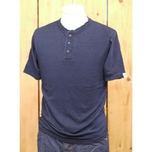 ウエス UES インディゴヘンリーネックTシャツ No.66IR|craft-ac