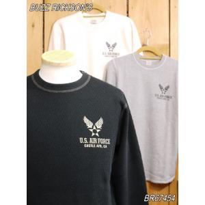 バズリクソンズ US AIR FORCE サーマルTシャツ グレー ブラック ナチュラル BR67454|craft-ac