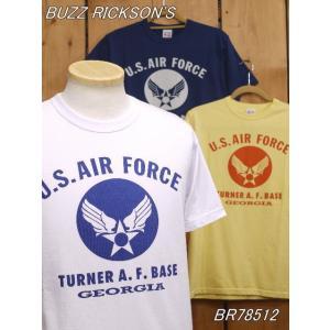 バズリクソンズ U.S.AIR FORCE Tシャツ ホワイト ネイビー イエロー BR78512|craft-ac