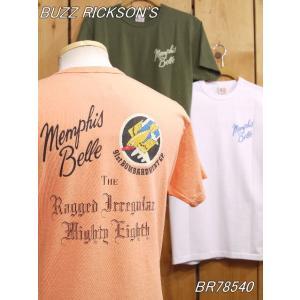 バズリクソンズ MEMPHIS BELLE Tシャツ オレンジ ホワイト オリーブ BR78540|craft-ac