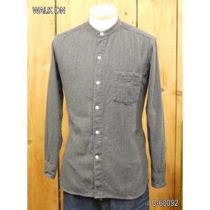 ウォークオン WALK ON スタンドカラーグランドシャツ C-60092|craft-ac