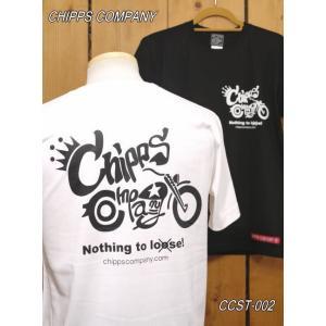 チップスカンパニー WLA Tシャツ CCST-002 ホワイト ブラック Cipps Company|craft-ac