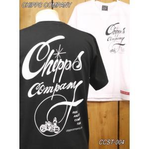 チップスカンパニー  BIKER Tシャツ CCST-004 ホワイト ブラック Cipps Company|craft-ac