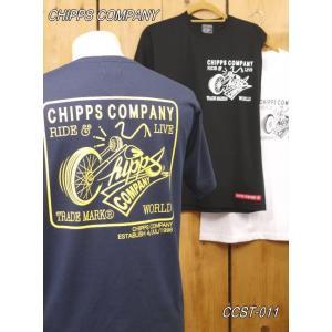 チップスカンパニー TRADEMARK Tシャツ CCST-011 ネイビー ホワイト ブラック Cipps Company|craft-ac