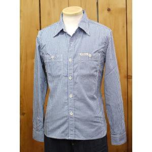 フラットヘッド シャツ THE FLAT HEAD CO-32W ギンガムチェックワークシャツ インディゴ|craft-ac