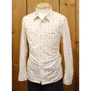 フラットヘッド シャツ CO-35W ネイティブプリントワークシャツ ベージュ |craft-ac