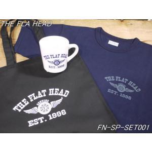フラットヘッド Tシャツ 3点セット インディゴTシャツ オリジナルマグカップ トートバッグ FN-SP-SET001 theflathead|craft-ac