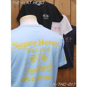 フラットヘッド Tシャツ FN-THC-017 SUPER HONEY 丸胴半袖Tシャツ ブラック ホワイト ネイビー サックス theflathead|craft-ac