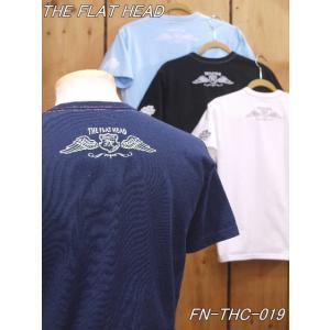 フラットヘッド Tシャツ FN-THC-019 PREMIUM 丸胴半袖Tシャツ ブラック ホワイト ネイビー サックス theflathead|craft-ac