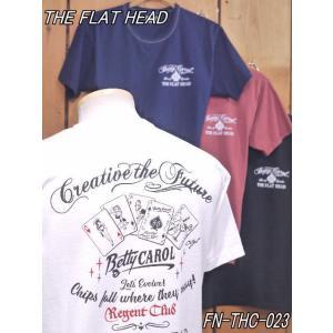 フラットヘッド Tシャツ FN-THC-023 BETTY CAROL 丸胴半袖Tシャツ ライトエンジ ネイビー ホワイト ブラック  theflathead|craft-ac