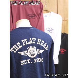 フラットヘッド ロンT FN-THCL-211 FH FLYING WHEEL 丸胴長袖Tシャツ ホワイト ブラック theflathead|craft-ac