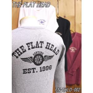 フラットヘッド ロンT FN-THLD-002 FH FLYING WHEEL サーマル長袖Tシャツ ブラウン グレー ホワイト ブラック theflathead|craft-ac