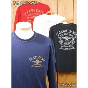 フラットヘッド ロンT F-THCL-003 THE FLAT HEAD ロングTシャツ ネイビー ホワイト ブラック ダークレッド|craft-ac