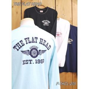 フラットヘッド ロンT F-THCL-205 FH FLYING WHEEL 長袖Tシャツ ホワイト ブラック ネイビー サックス  theflathead|craft-ac