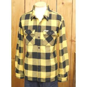フラットヘッド ネルシャツ HN-52W ブロックチェックワークシャツ イエロー|craft-ac