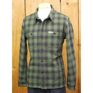 フラットヘッド ネルシャツ HN-64W チェックヘビーネルワークシャツ グリーン|craft-ac