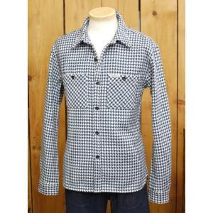 フラットヘッド ネルシャツ HN-71W 千鳥ヘビーネルワークシャツ アイボリー×ブルー|craft-ac