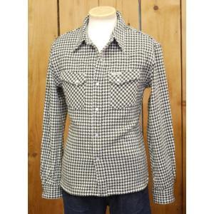 フラットヘッド ネルシャツ HNW-71W 千鳥ヘビーネルウエスタンシャツ アイボリー×グリーン|craft-ac