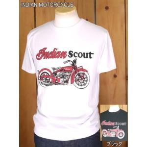 インディアンモーターサイクル Tシャツ INDIAN SCOUT Tシャツ IM77324 東洋エンタープライズ|craft-ac