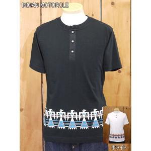 インディアンモーターサイクル Tシャツ THUNDERBIRD ヘンリーネックTシャツ IM77336 東洋エンタープライズ|craft-ac