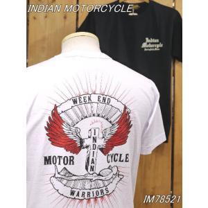 インディアンモーターサイクル Tシャツ WARRIORS Tシャツ IM78521 東洋エンタープライズ|craft-ac