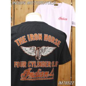 インディアンモーターサイクル Tシャツ INDIAN FOUR Tシャツ IM78522 東洋エンタープライズ|craft-ac