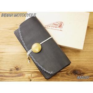 インディアンモトサイクル コンチョ ロングウォレット ブラック IMW-091|craft-ac