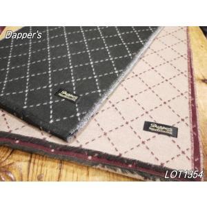 ダッパーズ  ダイアモンド カシミンクスカーフ ブラック ベージュ メンズマフラー dappers LOT1354|craft-ac
