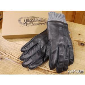ダッパーズ  ホースハイドレザーグローブ ブラック 皮手袋 dappers LOT1369 craft-ac