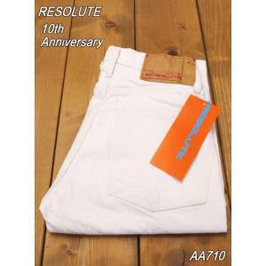 リゾルト Lot.AA710 10周年記念モデル ホワイトデニム タイトストレート ウエスト28〜34 RESOLUTE リゾルトジーンズ|craft-ac