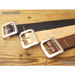 シュガーケーン ベルト サドルレザーギャリソンベルト ブラック ベージュ ブラウン SC02320|craft-ac