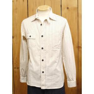 シュガーケーン  フィクションロマンス ホワイトウォバッシュワークシャツ SC27076|craft-ac