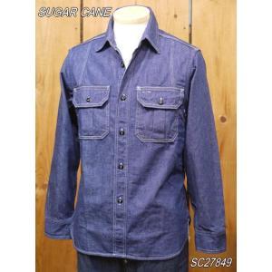 シュガーケーン フィクションロマンス 8.5oz.デニムワークシャツ  SC27849|craft-ac