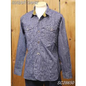 シュガーケーン 5oz. インディゴストライプ ワークシャツ SC28650 sugarcane|craft-ac