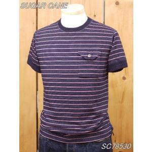 シュガーケーン  インディゴドビーボーターTシャツ SC78530 sugarcane|craft-ac