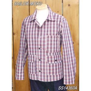 サンサーフ セーラー モク パラカチェックワークジャケット UNION SUPPLY SS14360A|craft-ac