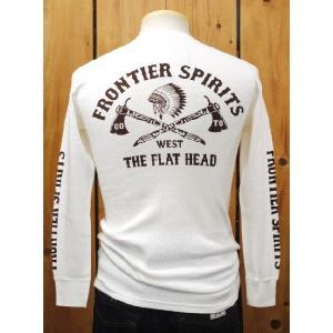フラットヘッド Tシャツ THLA-06W GO TO WEST 長袖Tシャツ ホワイト|craft-ac