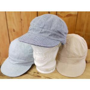 トイズマッコイ TMA1610 COTTON WORK CAP  ヒッコリー サックス ブルー |craft-ac