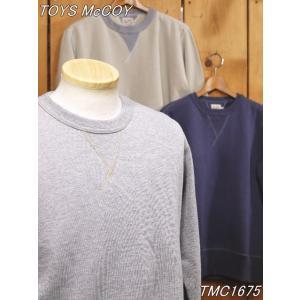 トイズマッコイ スウェット TMC1675 McHILL SPORTS WEAR スウェットシャツ グレー サンド ネイビーグレー|craft-ac