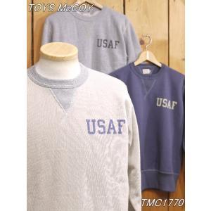 トイズマッコイ スウェット TMC1770 USAF ミリタリースウェットシャツ サンド グレー ネイビーグレー toysmccoy|craft-ac
