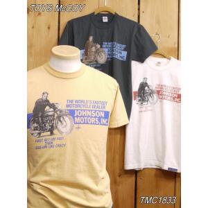 トイズマッコイ Tシャツ TMC1833 ジョンソンモータース INC TEE. THE WORLD'S FASTEST MC DEALER|craft-ac