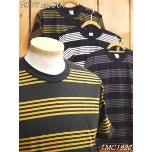 トイズマッコイ TMC1926 マルチボーダーTシャツ アイボリー レッド オリーブ toysmccoy|craft-ac