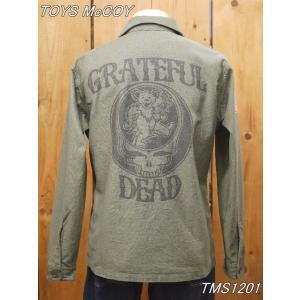 トイズマッコイ TMS2101 GRATEFUL DEAD OG-107 コットンサテン ミリタリーシャツ toysmccoy|craft-ac