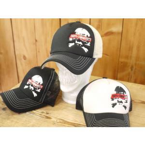 チップスカンパニー SKULL オリジナルメッシュキャップ ブラック×アイボリー、アイボリー×ブラック、ブラック Cipps Company|craft-ac