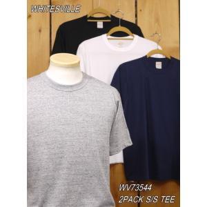 ホワイツビル 2パック 無地Tシャツ ネイビー グレー ブラック ホワイト WHITESVILLE WV73544|craft-ac